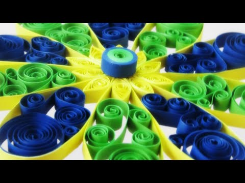 Papercraft Quilling Tutorial - DIY Quilled beautiful flower for decoration