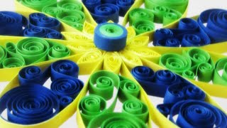 Quilling Tutorial - Quilled Beautiful Flower For Decoration