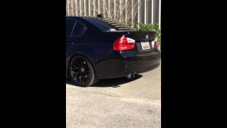BMW 328i straight pipes secondary cat/muffler/resonator delete (custom straight pipes)