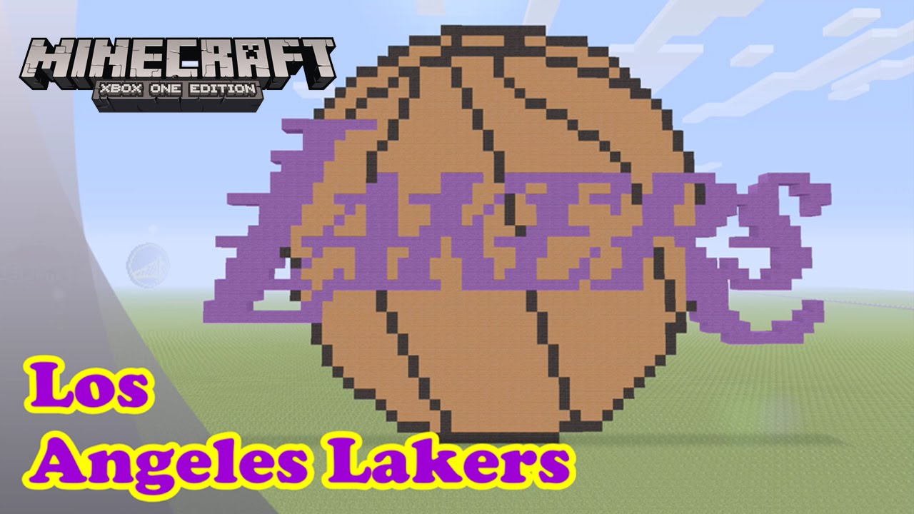 Minecraft Pixel Art Tutorial And Showcase Los Angeles Lakers Logo Nba