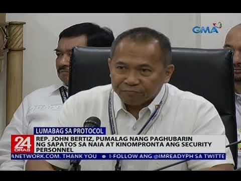 Rep. John Bertiz, pumalag nang paghubarin ng sapatos sa NAIA at kinompronta ang security personnel