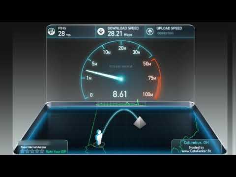 Cincinnati Bell Fioptics Speed Test