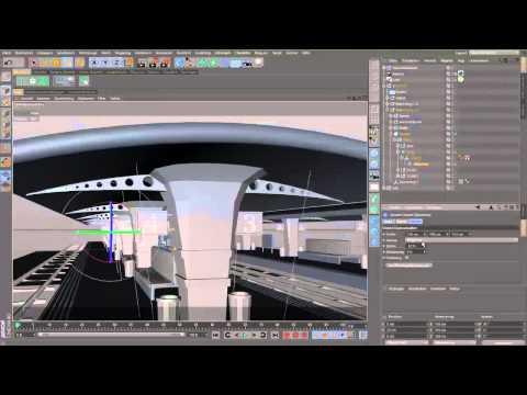 "Euro Cyber : ""Train Station"" - (Cinema4D)"