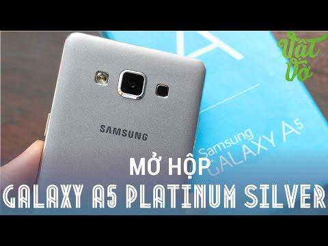 [Review dạo] Mở hộp Samsung Galaxy A5 màu Bạc (Platinum Silver)