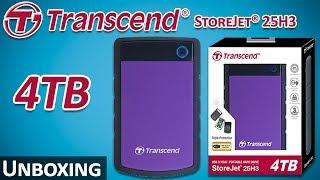 Transcend StoreJet® 25H3 - 4TB | External Storage Hard Drive | Unboxing & First Impressions