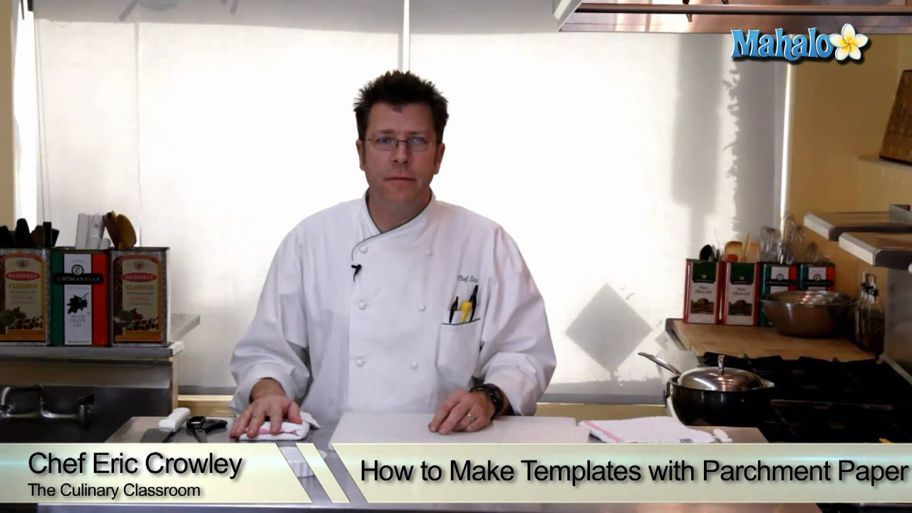 how to make templates with parchment paper youtube