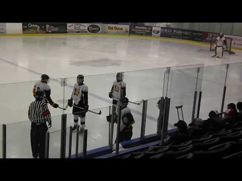 bantam hockey--player gives referee the middle finger and is ejected from the game