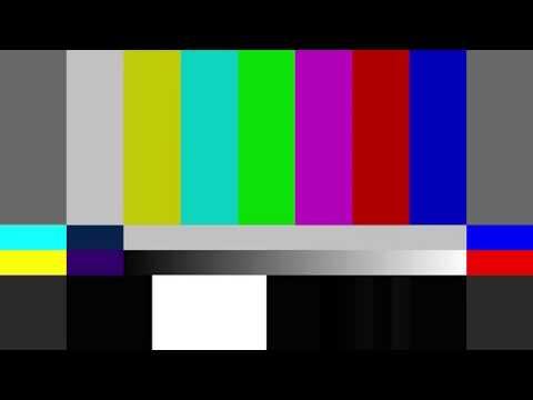 SMPTE Colorbars - 1KHz Tone Test (Clock 1h)