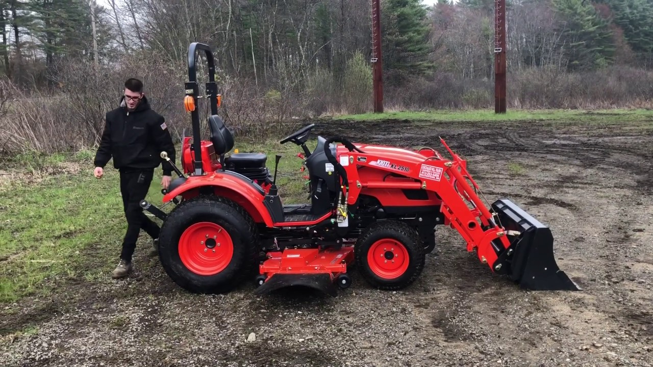 How Does a Compact Tractor Mow on Hills? - Kioti CK2510 Tractor w/ 60