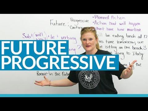Learn the FUTURE PROGRESSIVE TENSE in English