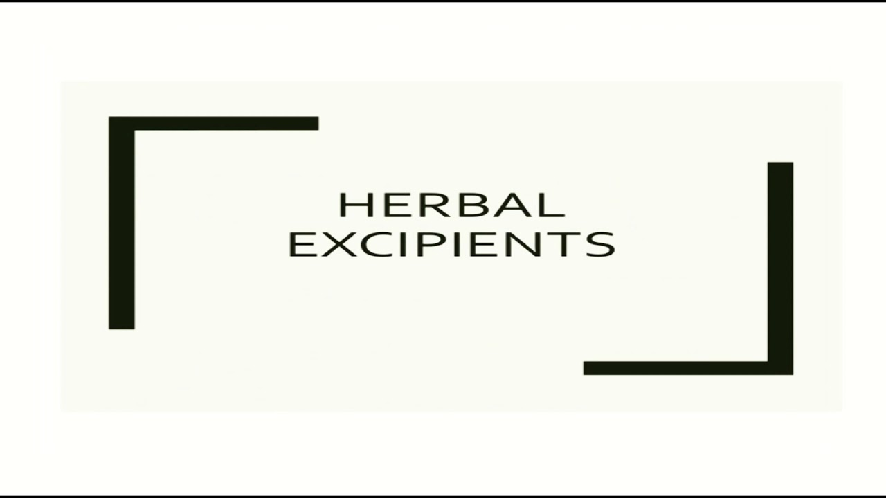 Herbal excipients    Complete notes    Herbal drug technology    b Pharmacy 3rd year 6th semester #Herbalmedicine