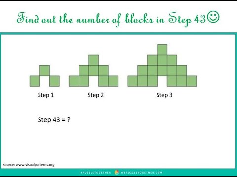 Find Out The Number Of Blocks In Step 43!!