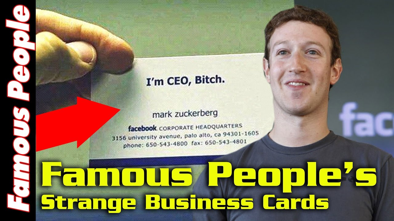 Top 10 famous people with their strange business cards youtube top 10 famous people with their strange business cards magicingreecefo Gallery