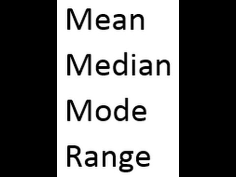 how to find median and mode