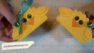 How to paper craft Easter Chicks Candy Treats
