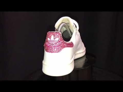 Handmade Custom Adidas Stan Smith Swarovski Crystal Fuchsia by Mark Leone ® 65d1b75e1
