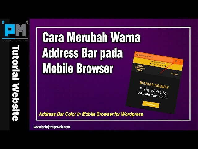 Cara Merubah Warna Address Bar pada Mobile Browser