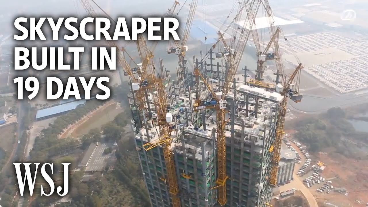 Watch a 57-Story Building Go Up in 19 Days - YouTube