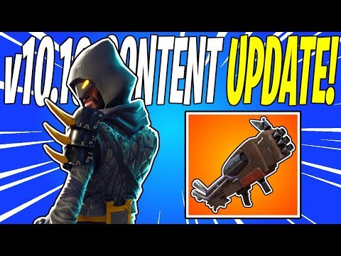 NEW V6 Rocket Launcher & Cloaked Star Weekly Quest! V10.10 Content Update | Fortnite Save The World