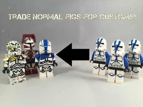 Trade Normal Lego Figures For Awesome Custom Star Wars, Soldiers, and Superheroes for Cheap!