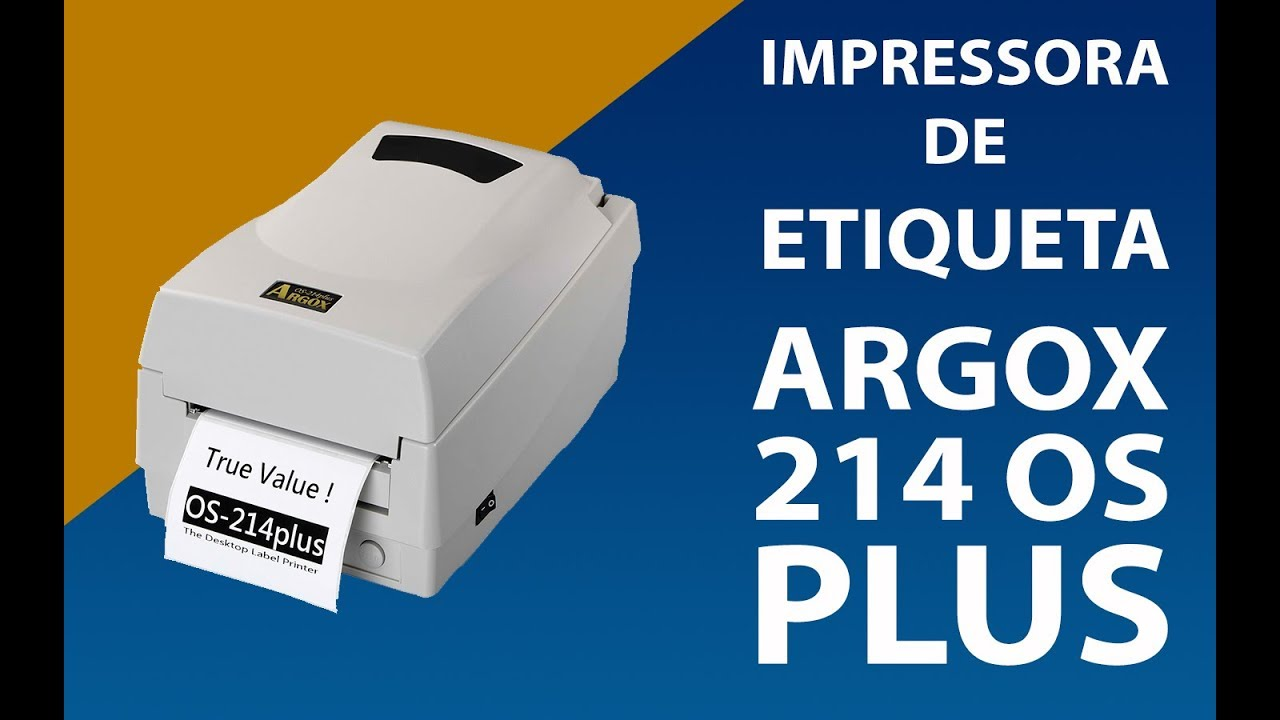 Impressora de Etiqueta - Argox 214 OS Plus - YouTube