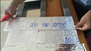 Roof Insulating foil installation