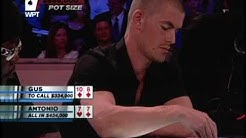 Antonio Esfandiari puts Gus Hansen All In!
