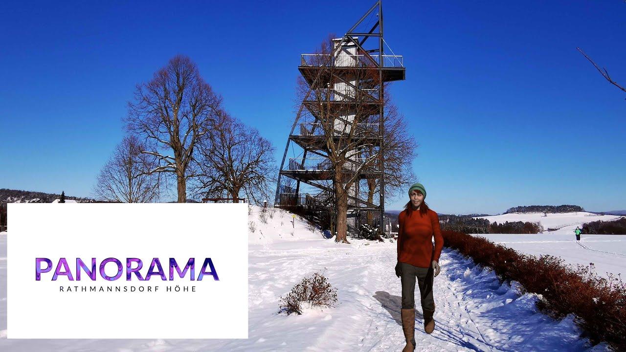 Winterpanorama auf der Rathmannsdorfer Höhe