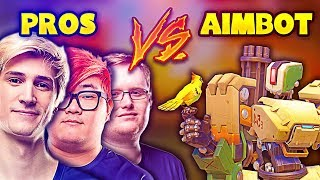 When Overwatch PROS Face AIMBOTTERS.... - Overwatch Pro + Funny Moments #8