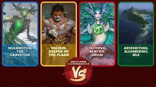 Commander VS S14E1: Muldrotha VS Valduk VS Tatyova VS Arixmethes [EDH]