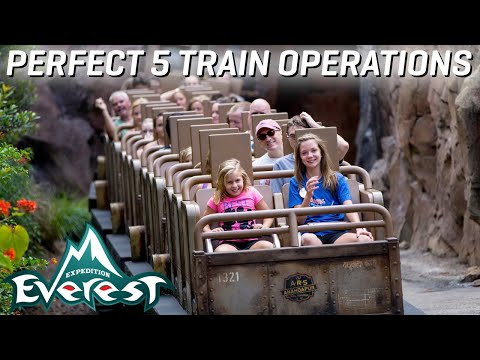 Expedition Everest - Perfect 5 Train Operations - For an Entire Hour!