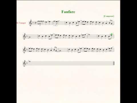 Final Fantasy Fanfare  - Sheet Music - Trumpet
