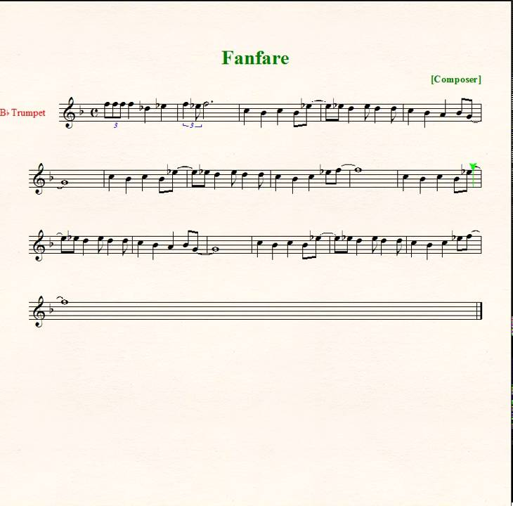 All Music Chords haydn trumpet concerto sheet music : Final Fantasy Fanfare - Sheet Music - Trumpet - YouTube