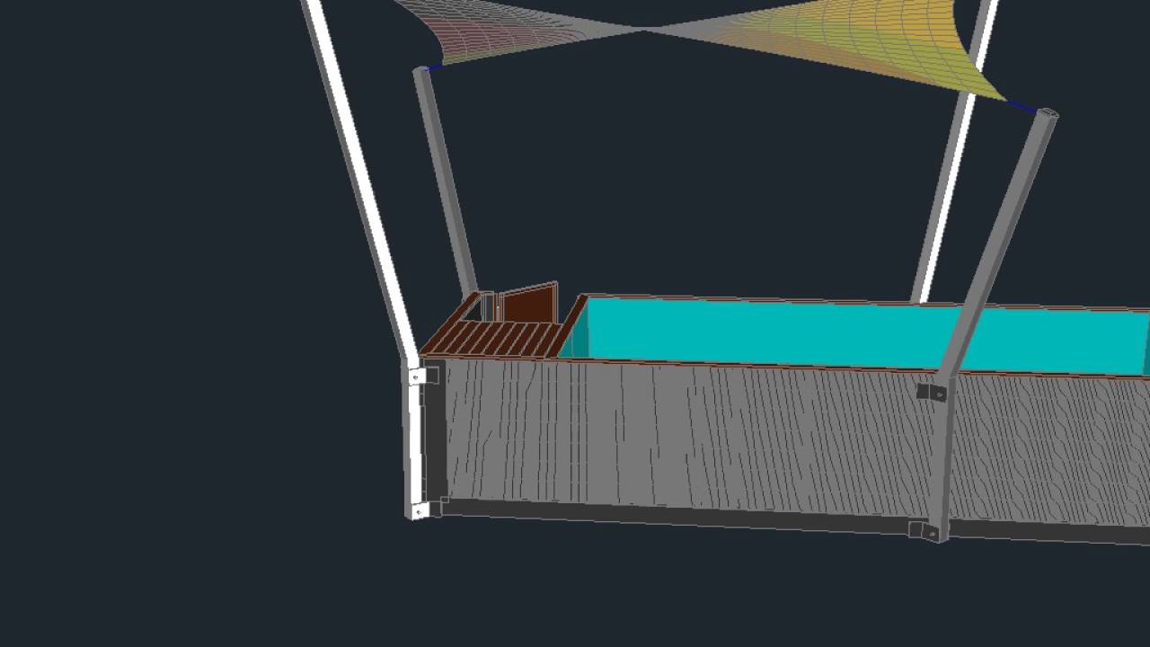 Container pool with shade youtube - Maak pool container ...