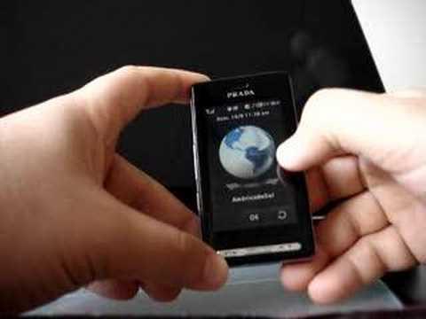 LG KE850 PRADA, usando MP3 player e mais..