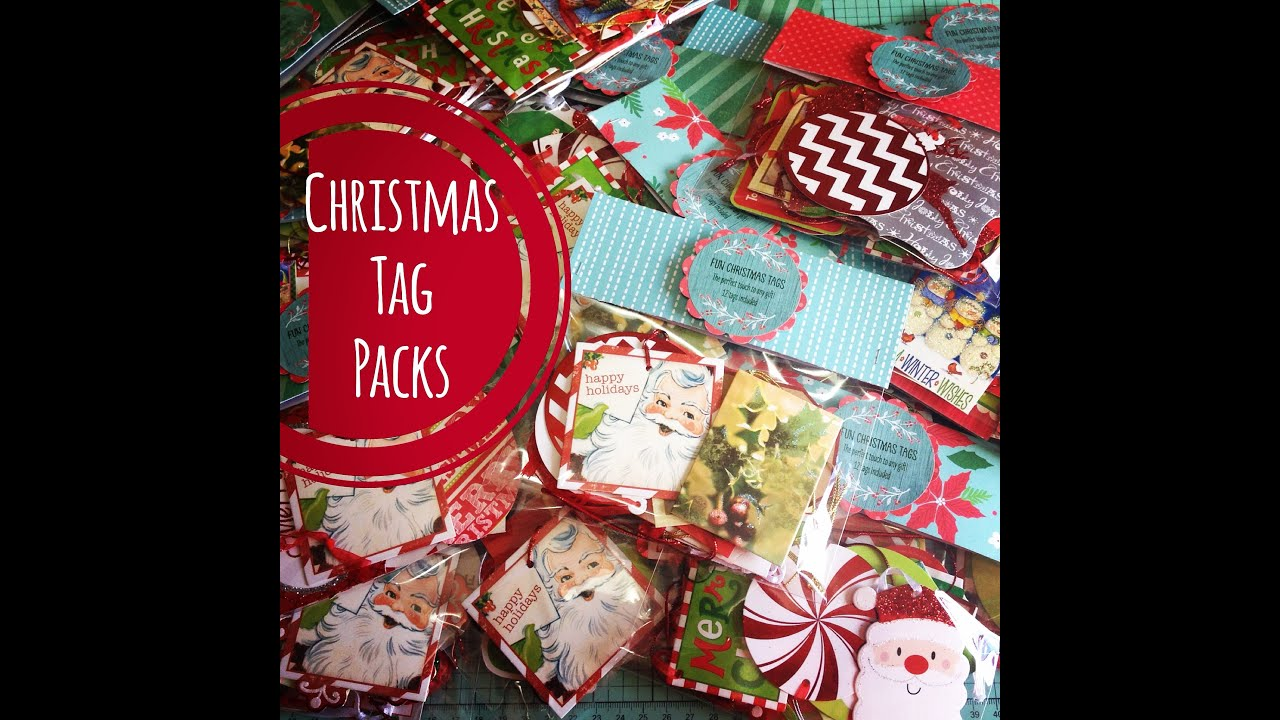 Craft fair idea 11 christmas tag packs 2015 youtube for What to make for a craft fair
