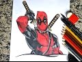 Speed Drawing Deadpool - Desenhando o Deadpool