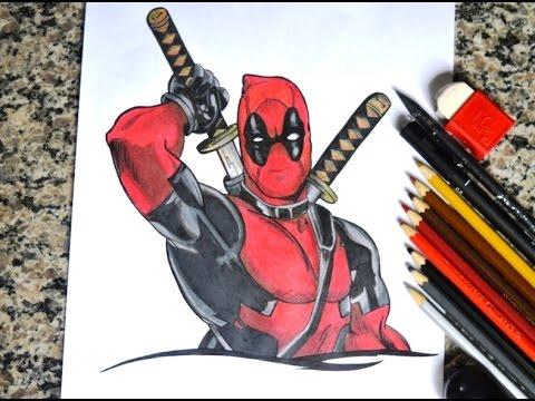 Speed Drawing Deadpool Desenhando O Deadpool