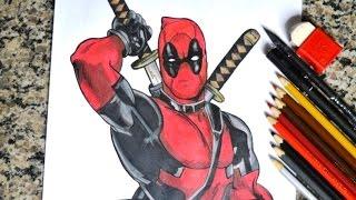 Speed Drawing Deadpool - Desenhando o Deadpool