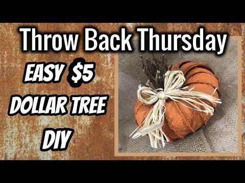 Dollar Tree Farmhouse DIY | QUICK & EASY $5 DIY | Throw Back Thursday