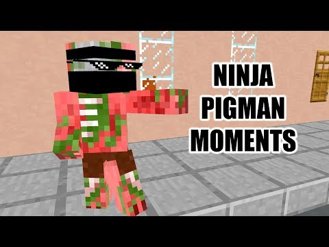 Monster School : NINJA PIGMAN MOMENTS - Minecraft Animation