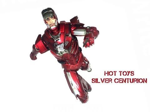 Hot Toys Iron Man 3 Silver Centurion Mark 33 Iron Legion Sideshow Collectibles Toy Review
