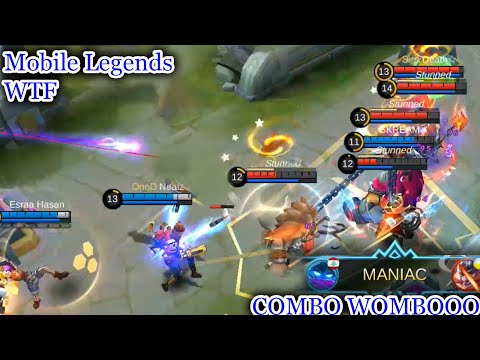 WTF Mobile Legends Funny Moments  300 IQ Atlas COMBO WOMBO But Fail Savage Lol