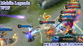 WTF Mobile Legends Funny Moments |300 IQ Atlas COMBO WOMBO but fail savage lol
