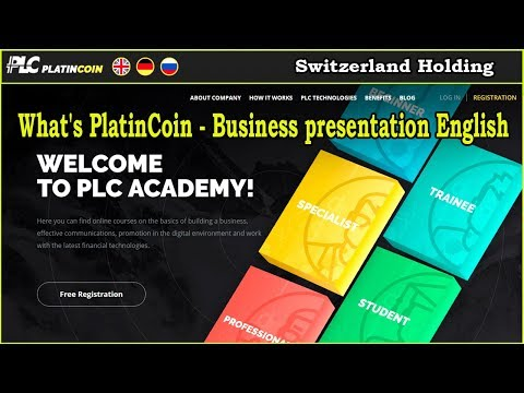 What's PlatinCoin ? - Business presentation English