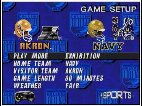 College Football USA '97 (video 176) (Sega Megadrive / Genesis)