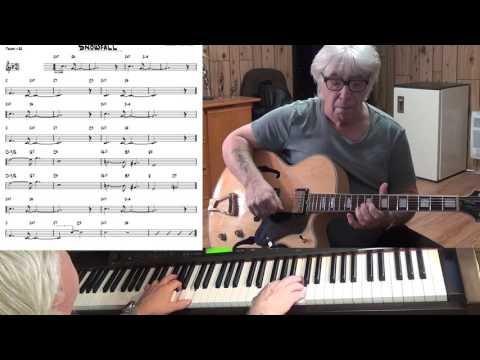 Snowfall - Jazz guitar & piano cover (Claude Thornhill )