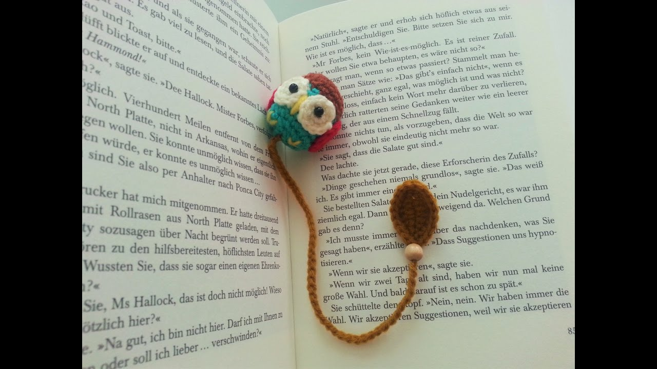 Owl bookmark crochet youtube bankloansurffo Gallery