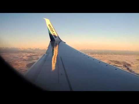 West jet 737-800 landing in Calgary