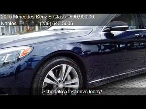 2015 Mercedes-Benz S-Class S 550 4MATIC AWD 4dr Sedan for sa